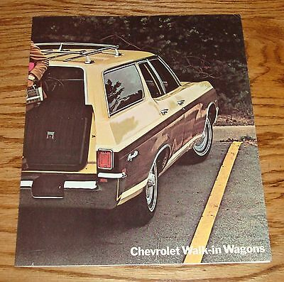 Original 1970 Chevrolet Wagon Facts Features Sales Sheet Brochure 70 Chevy