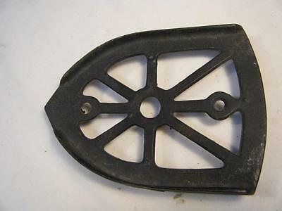 "Antique Cast Iron Sad Iron Trivet Black Footed 6"" x 4 3/8"""