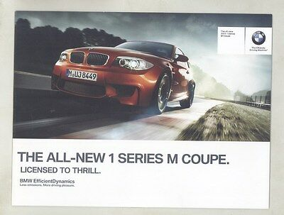 2011 BMW 135i M Coupe Brochure d0987