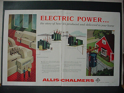 1956 Allis-Chalmers Electric Power Plant Substation etc Vintage Print Ad 10766