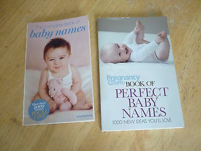 2 x baby name books