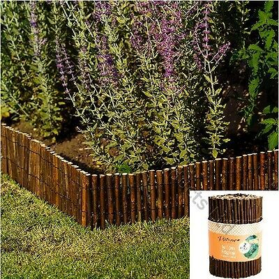 12 Metre x 20cm Willow Garden Border Edging Flower Bed Lawn Tree Edge Walkway