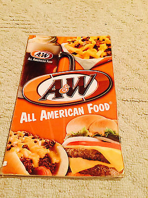 1 A&W Root Beer Drive in Denny's Big Boy style laminated Menu 2012