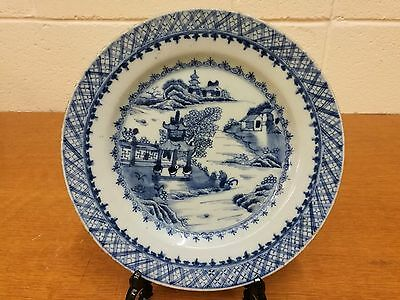 Antique Chinese Export Plate. Qianlong Period Qing Dynasty. 1760-80