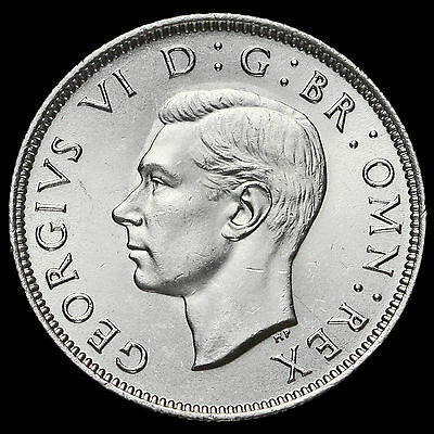 1946 George VI Silver Two Shilling Coin / Florin, A/BU
