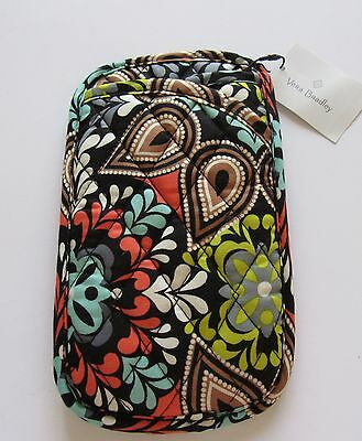 Vera Bradley Sierra Double Eye Case-floral quilted  browns orange green black