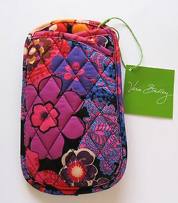 Vera Bradley Floral Fiesta  Double Eye Case-floral quilted pink blue orange red