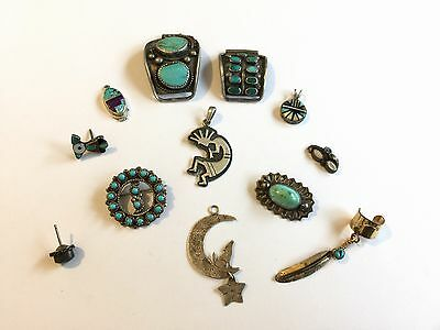 Vintage Sterling Silver Native American Usable Scrap Lot