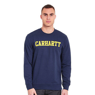 Carhartt WIP - College Sweater Blue / Yellow Pullover Rundhals