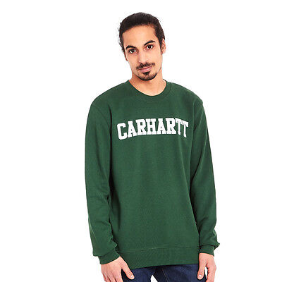 Carhartt WIP - College Sweater Fir / White Pullover Rundhals