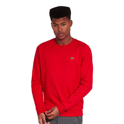 Lacoste - Embroidered Crocodile Sweater Red Pullover Rundhals