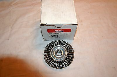 """Weiler 4"""" Stringer Bead Twist Knot Wire Brush SS .020 5/8""""-11 #36219 (Qty of 5)"""