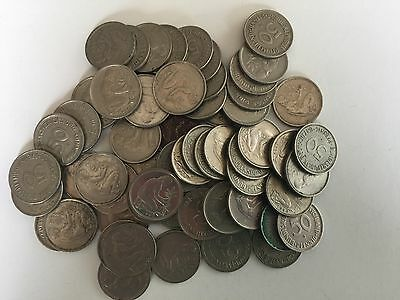 50 pfennig Coins from West Germany (Lot of 50) copper-nickel