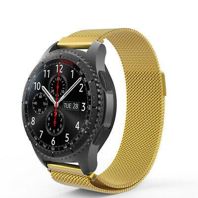 For Samsung Gear S3 Frontier Classic Milanese Band Metal Magnetic Strap Gold