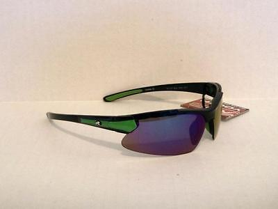 Rawlings Youth 107 Sport Sunglasses Black Green Wrap Baseball Softball 2-8734