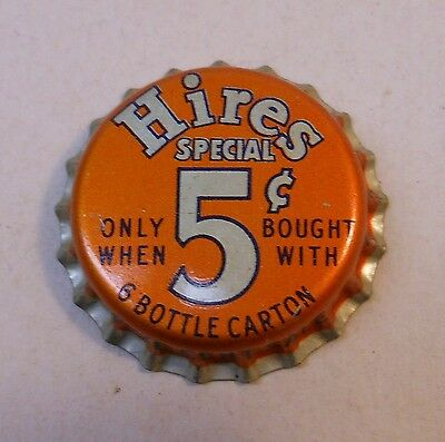 "Vintage Hires ""Special 5 cent""..cork..unused..Soda Bottle Cap"