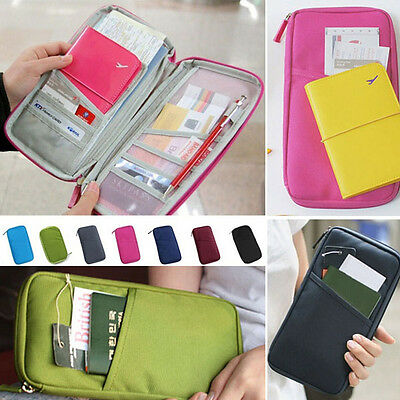 Travel Wallet Passport Holder Document Organiser Bag Ticket Credit Card Case