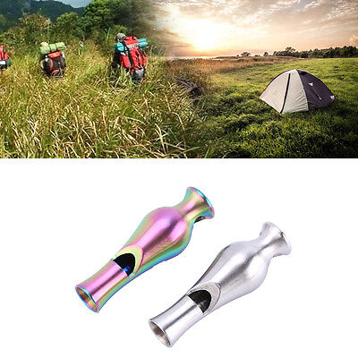 1PC Stainless Steel Survival Vase Shape Whistle Emergency Camping Hiking Tool DH
