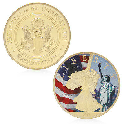 2017 Golden Great Seal Of The Unites States Liberty Challenge Commemorative Coin