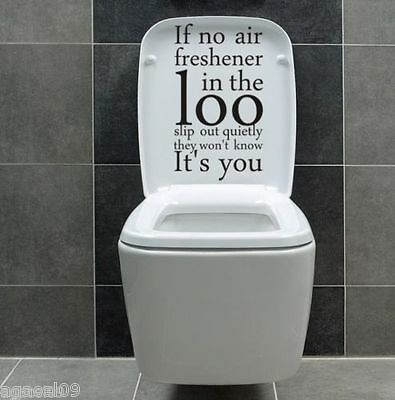 If No Air ...toilet Wall Sticker Bathroom Cool Quote Decal Vinyl Graphic Decor