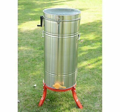 4 Frame Honey Extractor Stainless Steel Manual With Cover Honey Outlet Lid