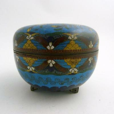 Large 19Th Century Chinese Cloisonne Box And Cover