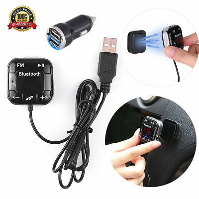 Bluetooth Magnetic FM Transmitter Car Kit USB Charger SD MP3 Player Handsfree