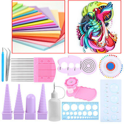 11pcs Paper Quilling Board Mould Crimper Comb Ruler Pins Tools Set DIY Craft Kit