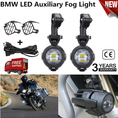"7"" Chrome LED Projector Daymaker Headlight + Passing Lights For Harley Touring H"