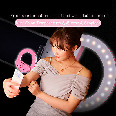 """Universal Clip-on Selfie LED Fill Light Ring Lamp For Phone Samsung iPhone 1/4"""""""