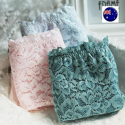 2x Pairs Women Ladies Cotton Invisible edge lace Panties Underwear Sexy Briefs