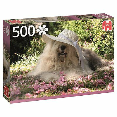 500 Piece Jumbo Jigsaw Puzzle - Sophie The Sheepdog In A Bed Of Flowers 18530