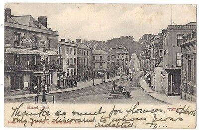 FROME Market Place, Early Postcard by Stengel, Undivided Back Postally Used 1903