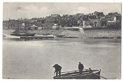 PILL Somerset, View of the Village, Old Postcard by Blyth Postally Used 1905