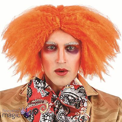 Ginger Orange Curly Mad Hatter Party Wig Fancy Dress Book Day Costume Accessory