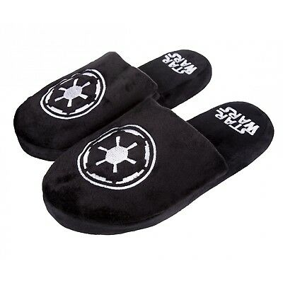 Galactic Empire Star Wars Slippers Black Large (UK 8-10) - Brand New!