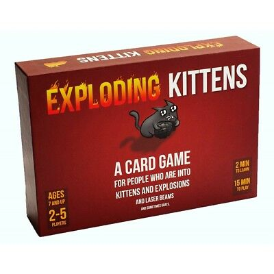 Exploding Kittens A Card Game Original Edition - Brand New!