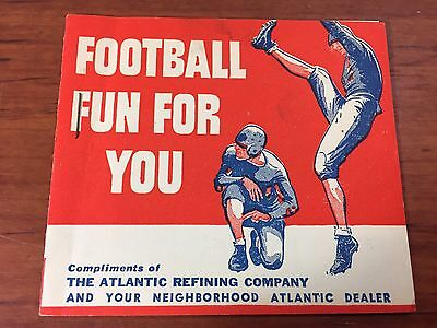 Vintage Rare 1930's Atlantic Gas & Oil Collectible Advertising Football Booklet
