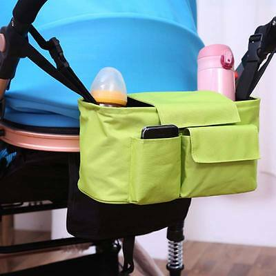 Pram Pushchair Infrant Baby Buggy Nappy Changing Bag Pouch Cup Holder Organisers