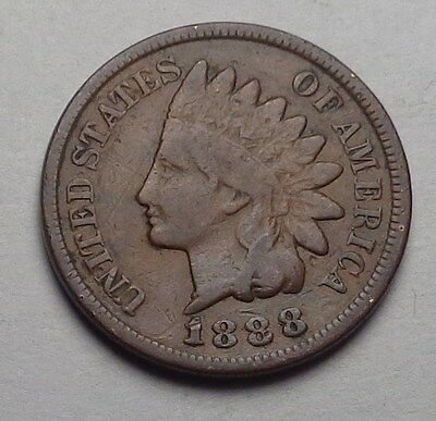 1888 Indian Head Cent,very Nice Coin!!!(I)