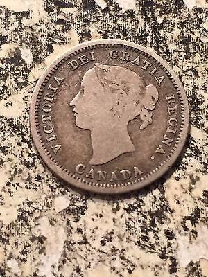 1858 Canada 5 Cent Silver Lot#3498