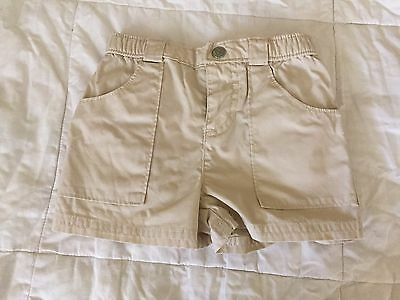 Baby Gap baby boy or girl shorts 3-6 months old beige (may run big for size)