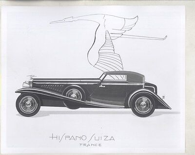 1932 ? Hispano Suiza Cabriolet Factory Photograph ww8306