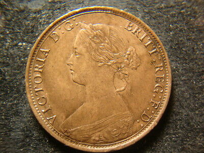 1864 BU Glossy RB red Brown Canada new Brunswick One Cent APR