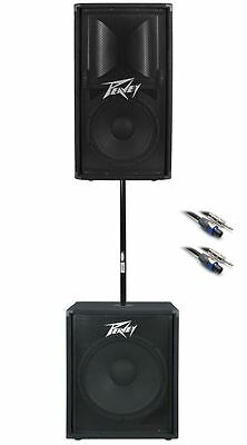 """Peavey PV112 12"""" PA Monitor + PV118 18"""" Subwoofer +FREE Sub Pole + Speaker Cable"""