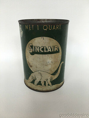 Old Antique Sinclair Oil Can Dino The Dinosaur