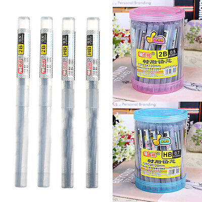 4 Tube HB 2B Lead a Refill Tube 0.5 mm / 0.7 mm Automatic Pencil Lead New Style