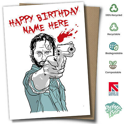 The Walking Dead Rick Grimes Personalised Birthday Card
