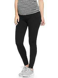 New Gap Maternity Gapfit Gfast Black Work Out Cotton Yoga Leggings pants Small s