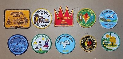 Set of 10 Vintage YWCA / YMCA Patches - 1970's - Kaweah - Scout Patches !